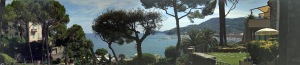 SANTA MARGHERITA PANORAMA FROM OUR ROOM AT THE CONTINENTAL HOTEL