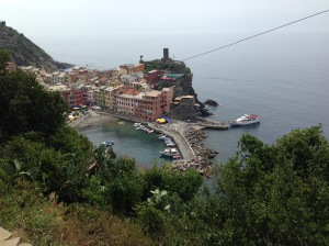 The Ferry Leaving Vernazza With Our Group, Without Us